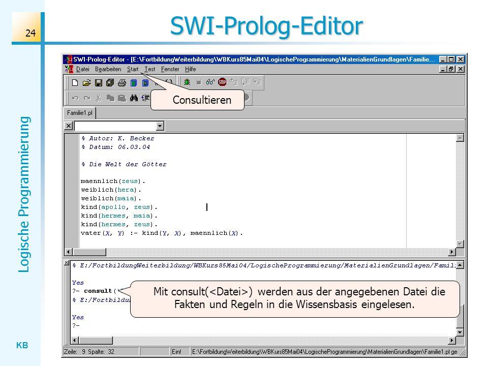SWI-Prolog-Editor Consultieren