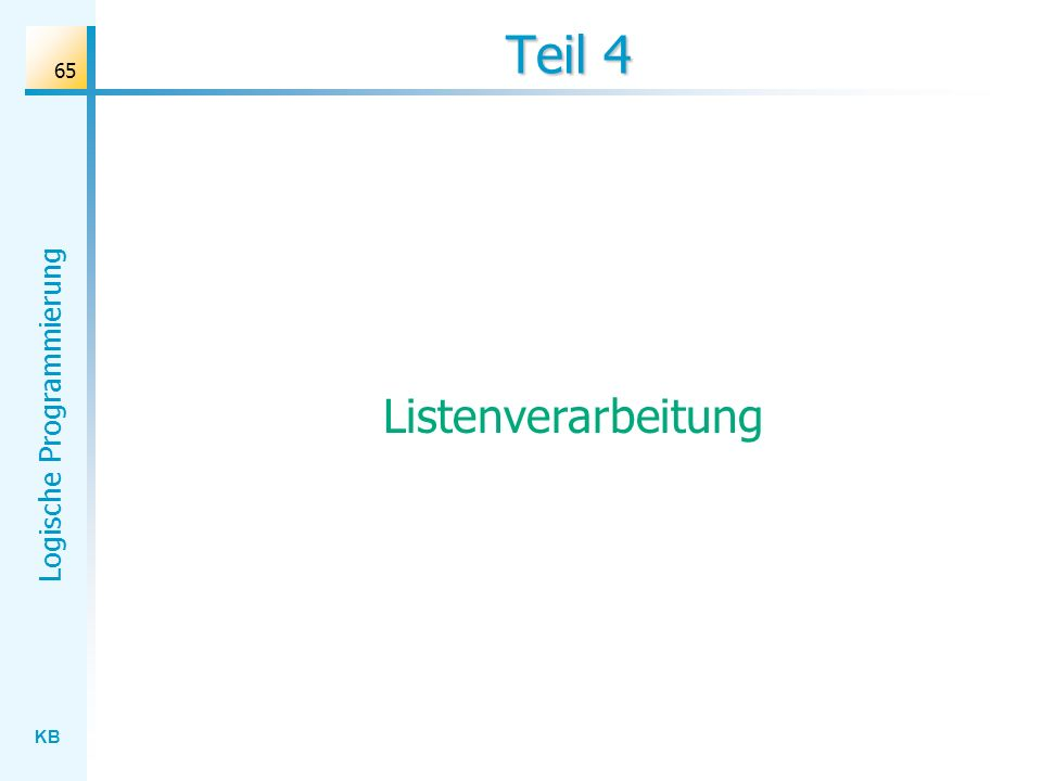 Teil 4 Listenverarbeitung