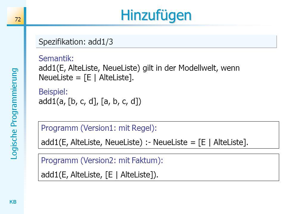 Hinzufügen Spezifikation: add1/3