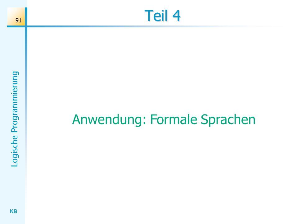 Anwendung: Formale Sprachen