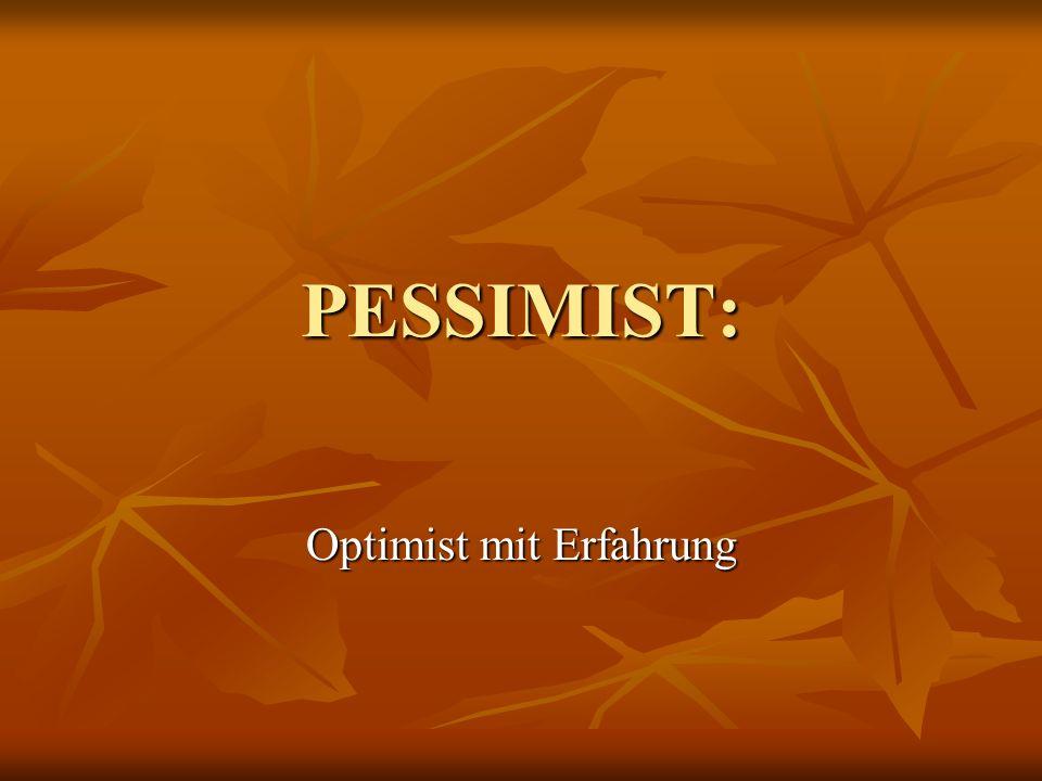 Optimist mit Erfahrung