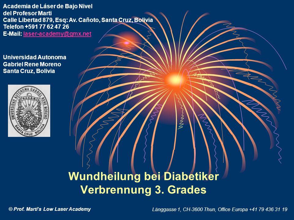Wundheilung bei Diabetiker Verbrennung 3. Grades