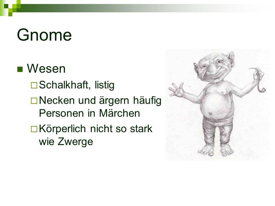 Gnome Wesen Schalkhaft, listig