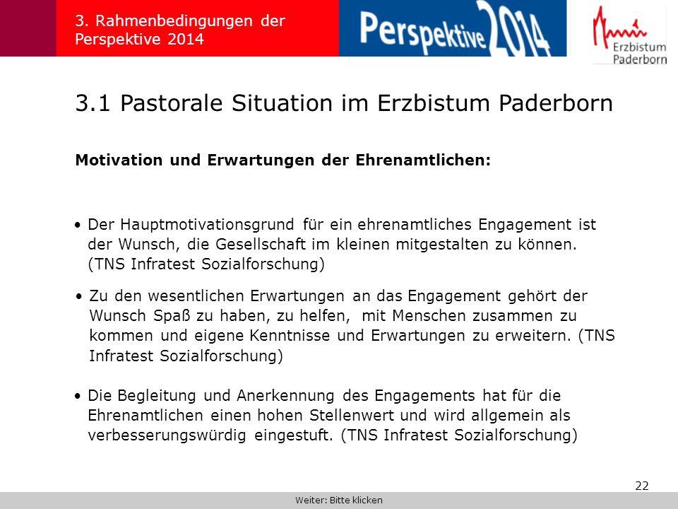 3.1 Pastorale Situation im Erzbistum Paderborn