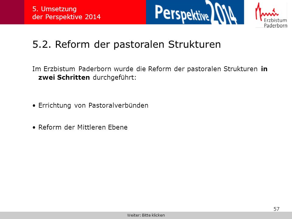 5.2. Reform der pastoralen Strukturen