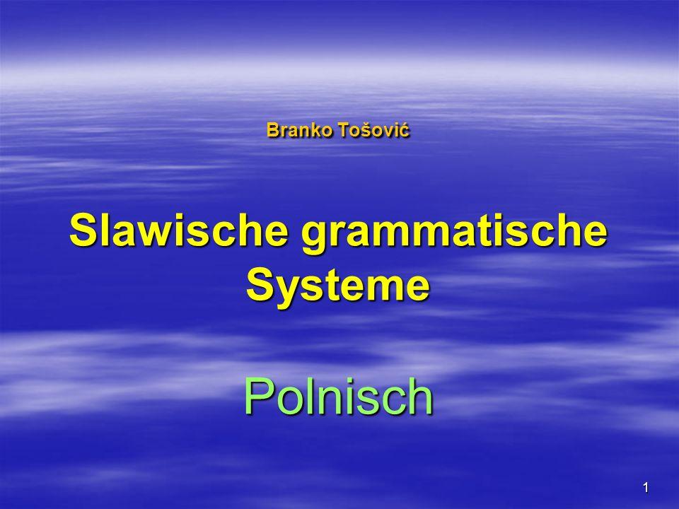 Branko Tošović Slawische grammatische Systeme Polnisch