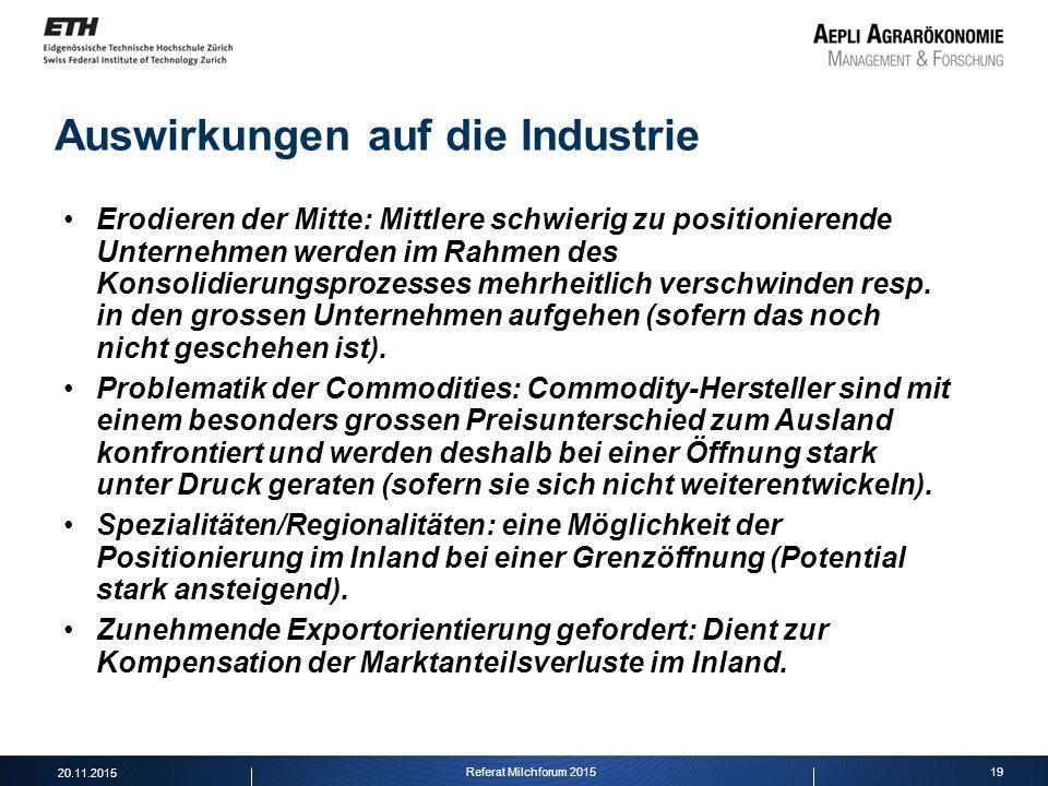 Auswirkungen auf die Industrie