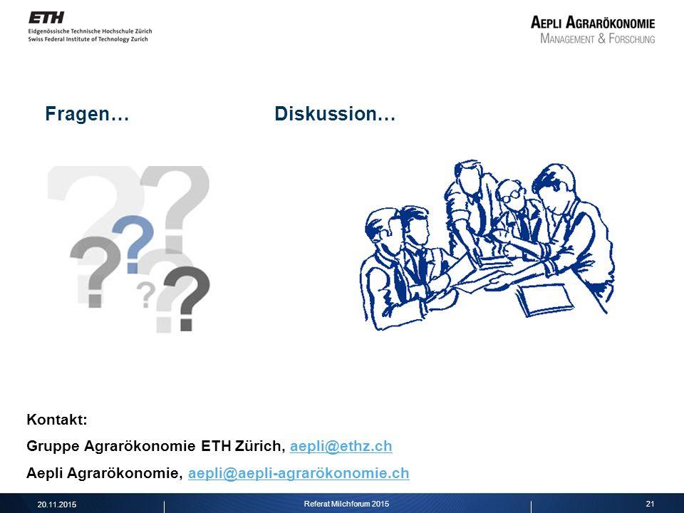 Fragen… Diskussion… Kontakt:
