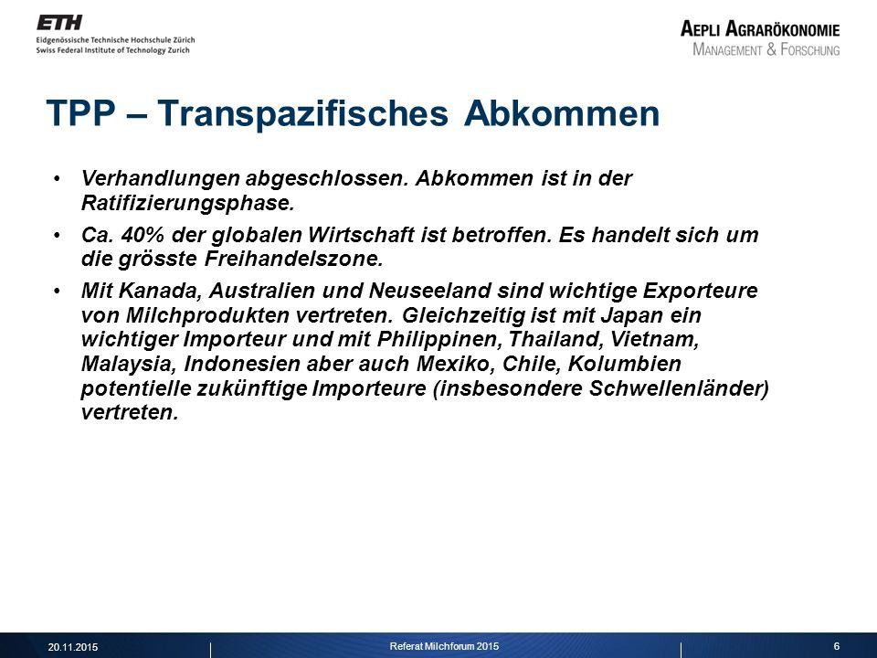 TPP – Transpazifisches Abkommen