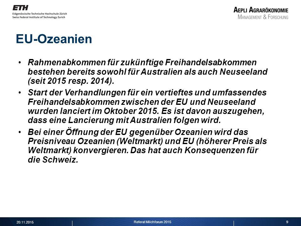 EU-Ozeanien Rahmenabkommen für zukünftige Freihandelsabkommen bestehen bereits sowohl für Australien als auch Neuseeland (seit 2015 resp. 2014).