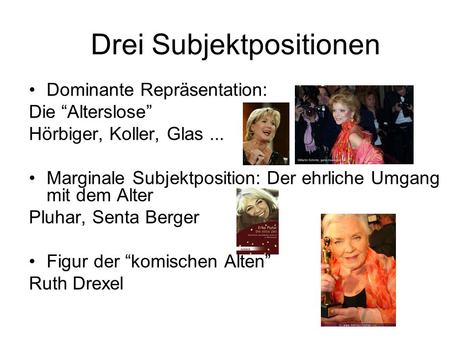 Drei Subjektpositionen