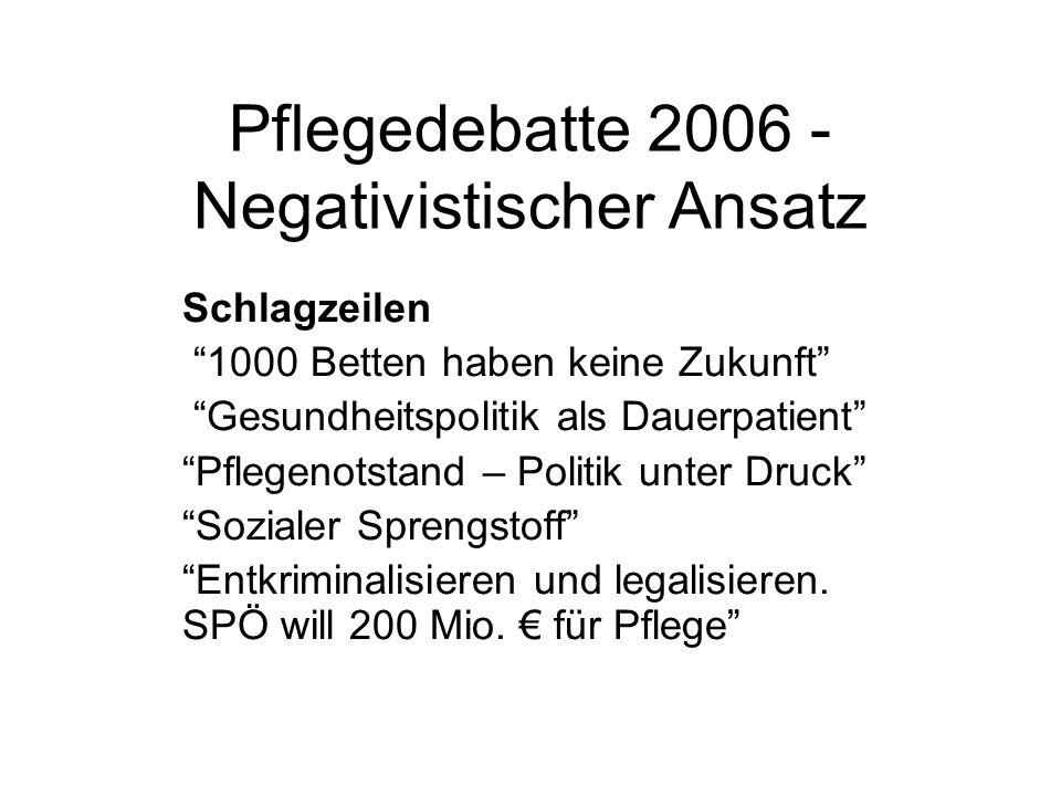 Pflegedebatte 2006 - Negativistischer Ansatz