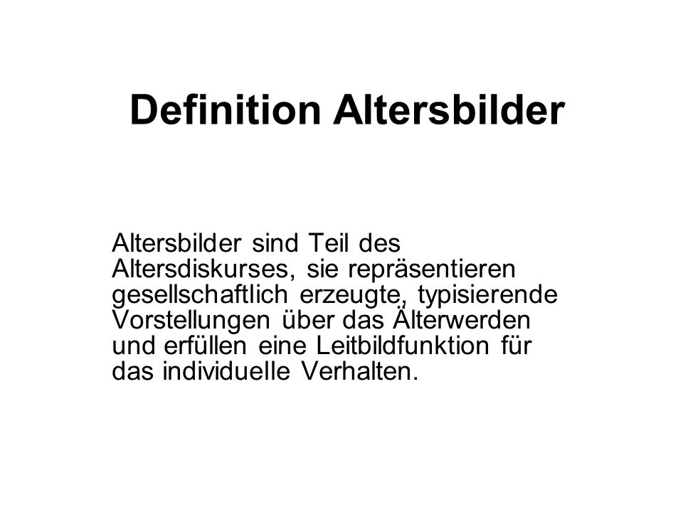 Definition Altersbilder