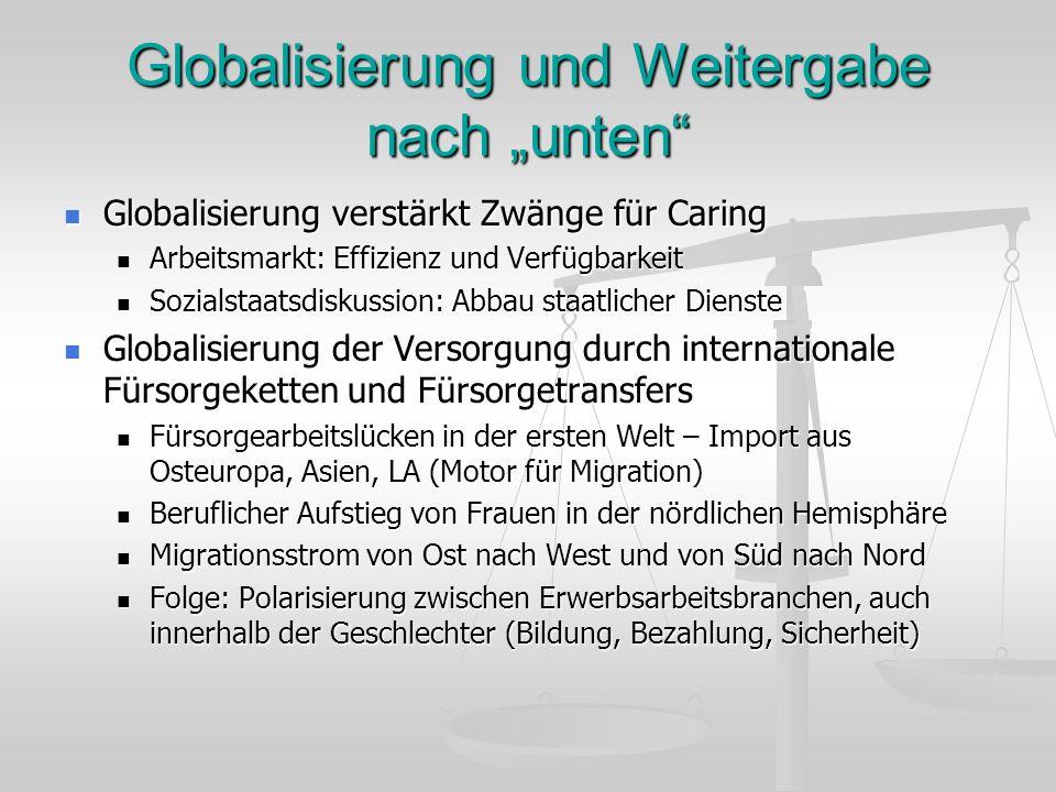 """Globalisierung und Weitergabe nach """"unten"""