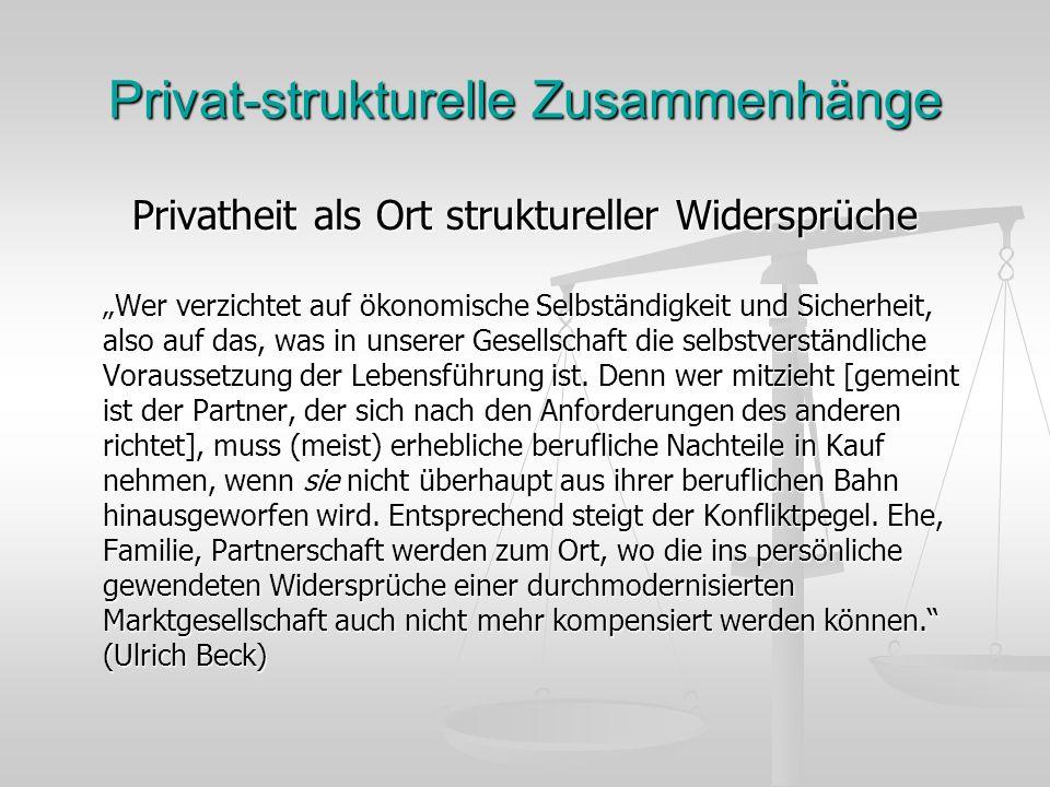 Privat-strukturelle Zusammenhänge