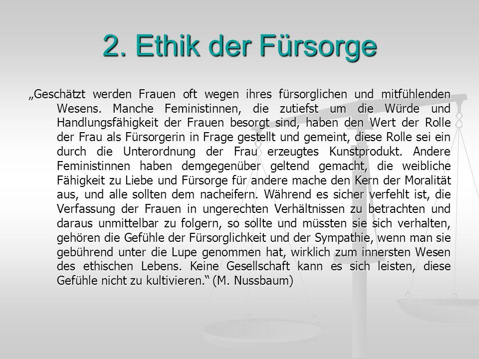2. Ethik der Fürsorge