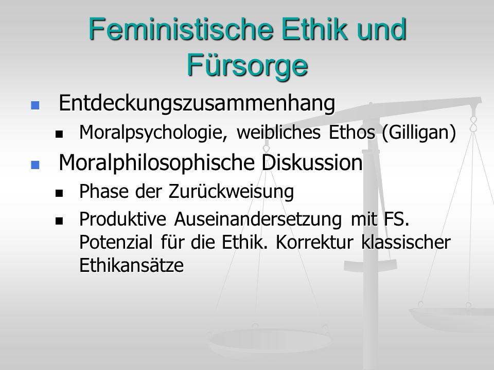 Feministische Ethik und Fürsorge