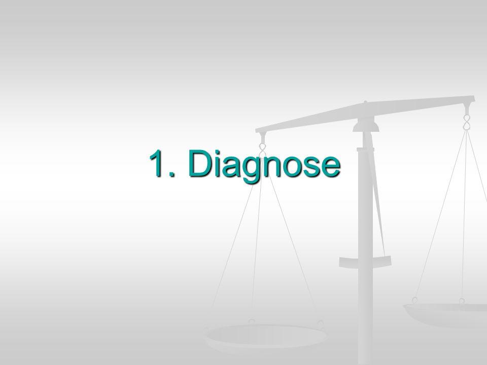 1. Diagnose