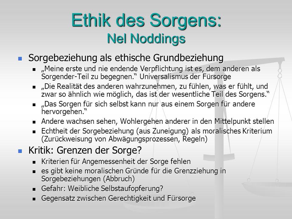 Ethik des Sorgens: Nel Noddings