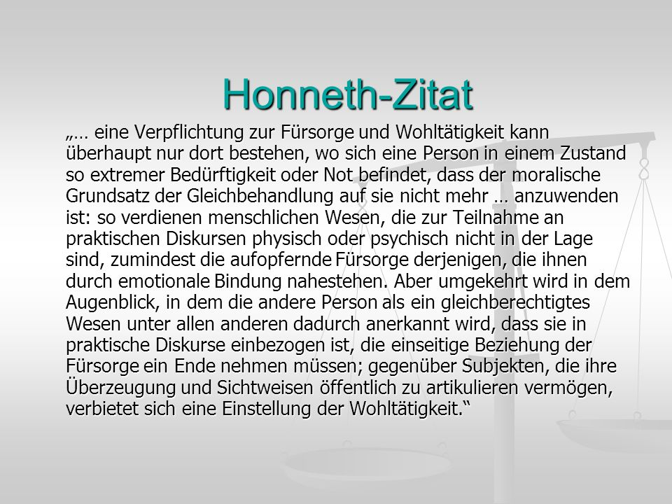 Honneth-Zitat