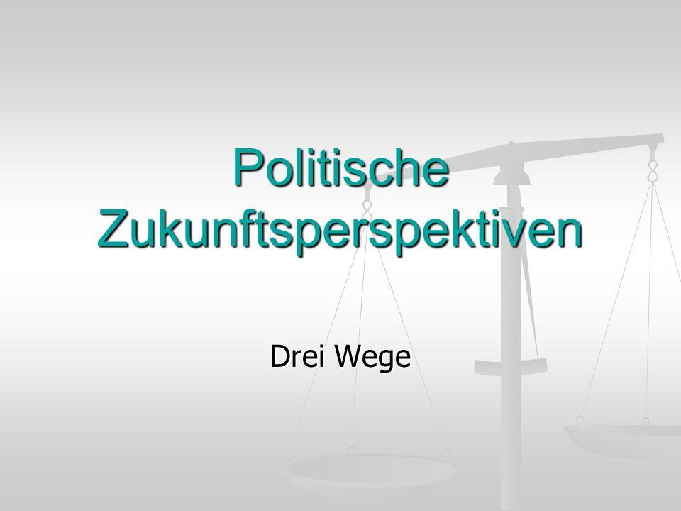 Politische Zukunftsperspektiven