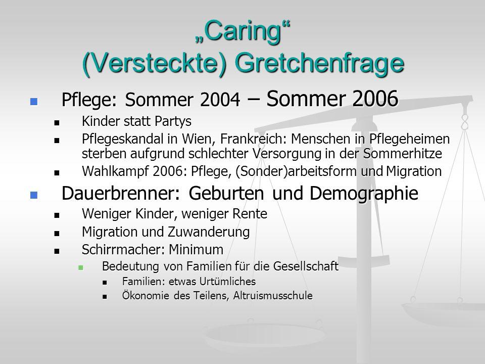 """""""Caring (Versteckte) Gretchenfrage"""