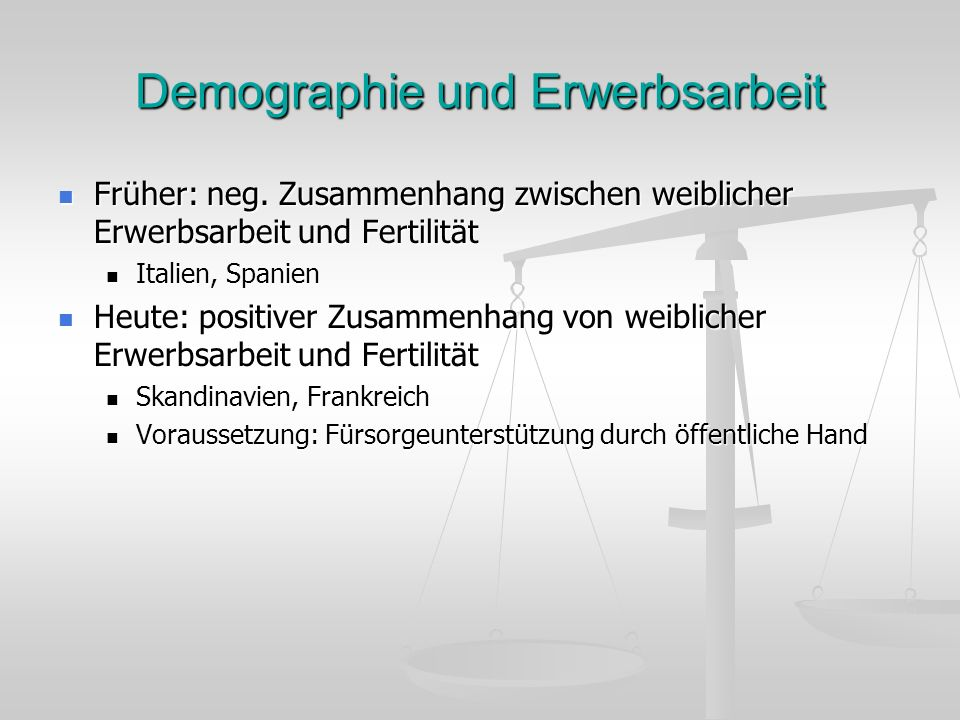 Demographie und Erwerbsarbeit