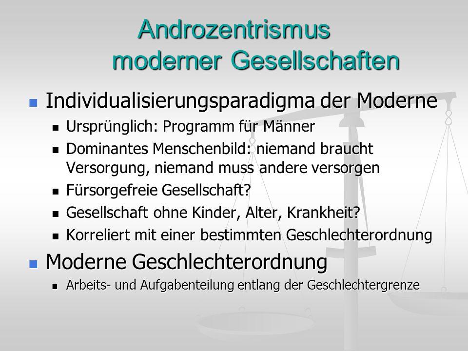 Androzentrismus moderner Gesellschaften