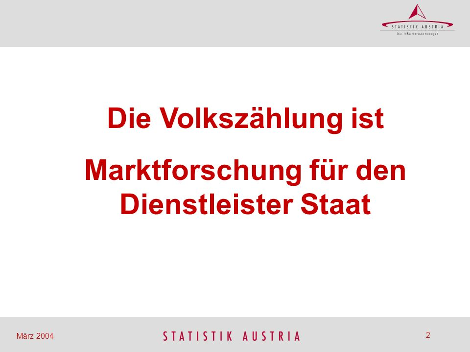 Marktforschung für den Dienstleister Staat
