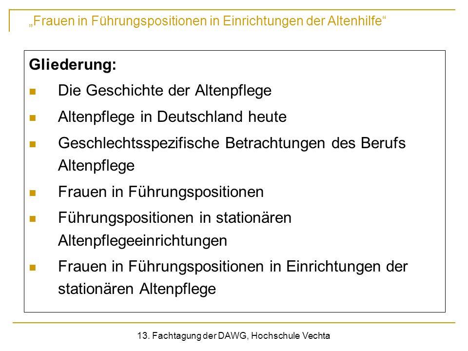 13. Fachtagung der DAWG, Hochschule Vechta
