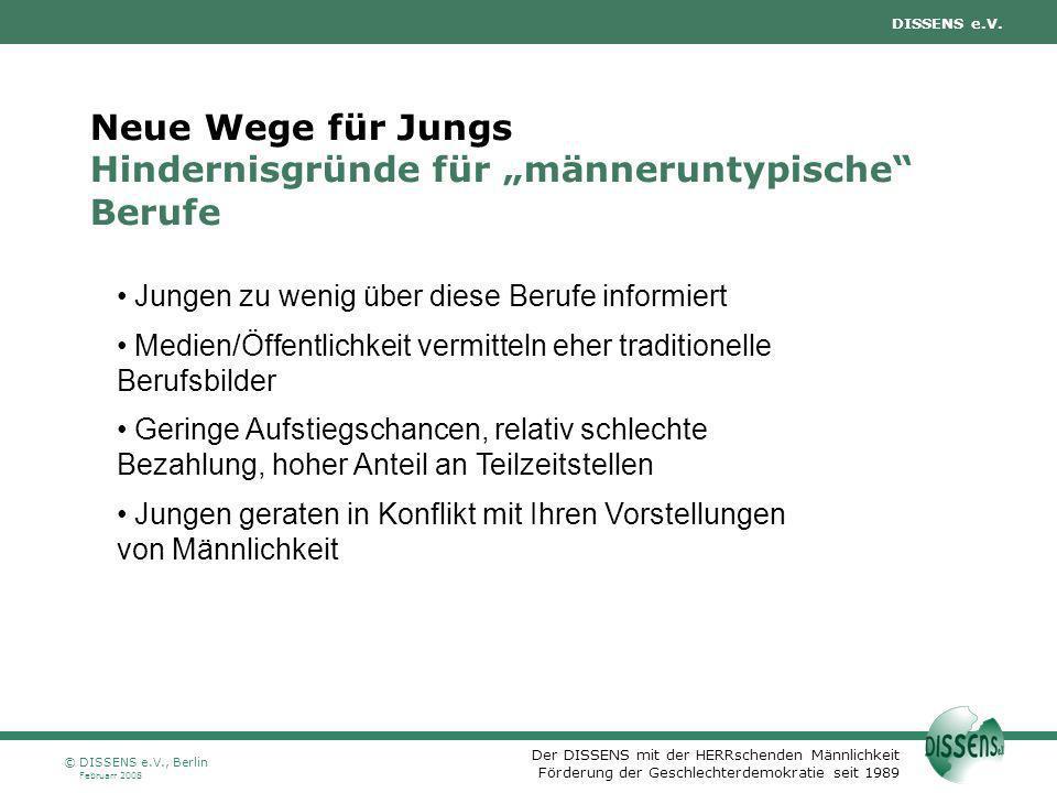 """Neue Wege für Jungs Hindernisgründe für """"männeruntypische Berufe"""