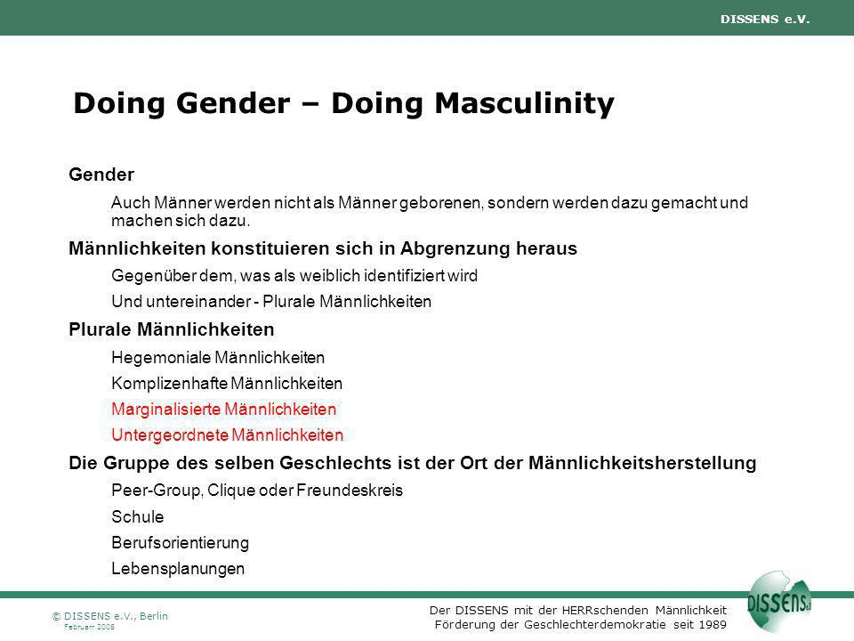 Doing Gender – Doing Masculinity