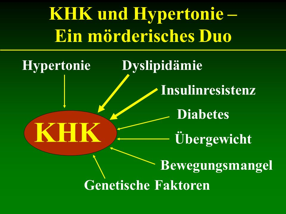 KHK KHK und Hypertonie – Ein mörderisches Duo Hypertonie Dyslipidämie