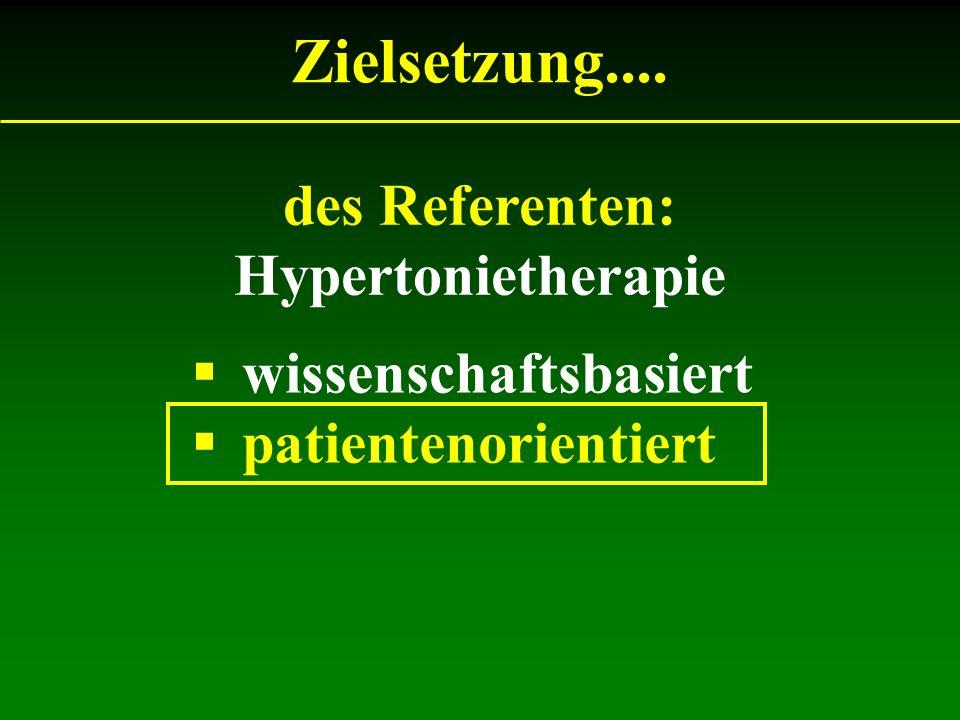 Zielsetzung.... des Referenten: Hypertonietherapie