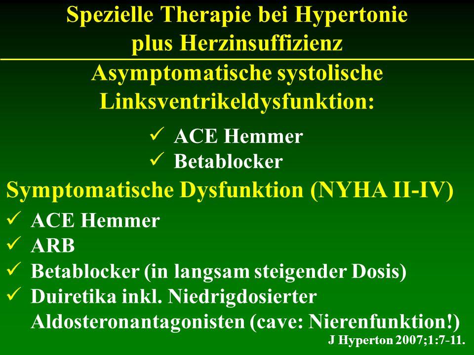 Spezielle Therapie bei Hypertonie plus Herzinsuffizienz