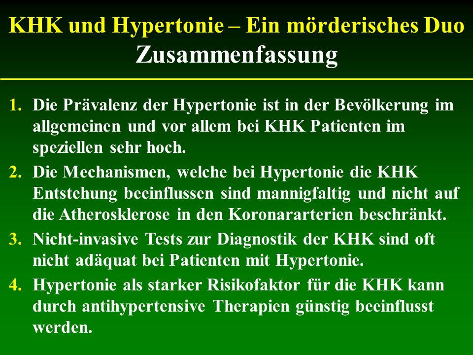 KHK und Hypertonie – Ein mörderisches Duo