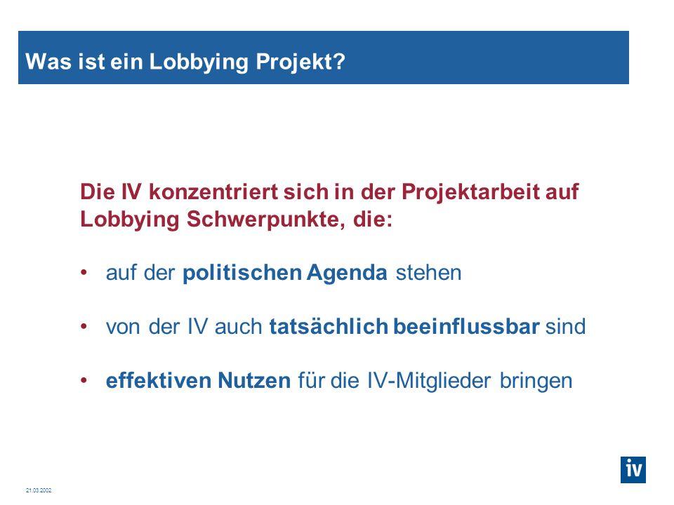 Was ist ein Lobbying Projekt
