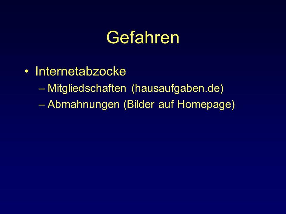 Gefahren Internetabzocke Mitgliedschaften (hausaufgaben.de)