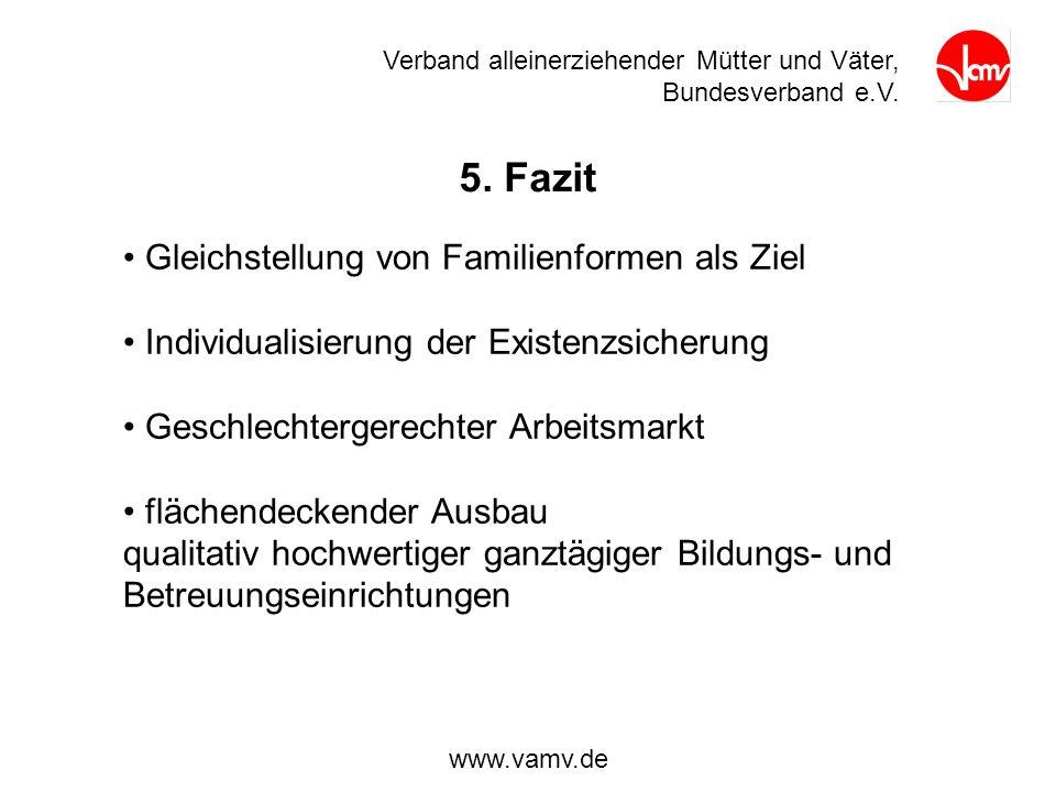 5. Fazit Gleichstellung von Familienformen als Ziel
