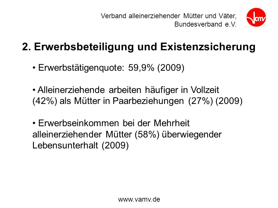 2. Erwerbsbeteiligung und Existenzsicherung