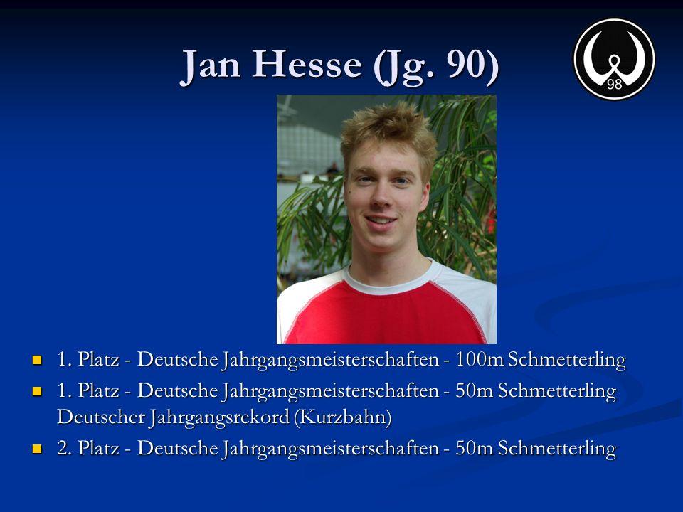 Jan Hesse (Jg. 90) 1. Platz - Deutsche Jahrgangsmeisterschaften - 100m Schmetterling.