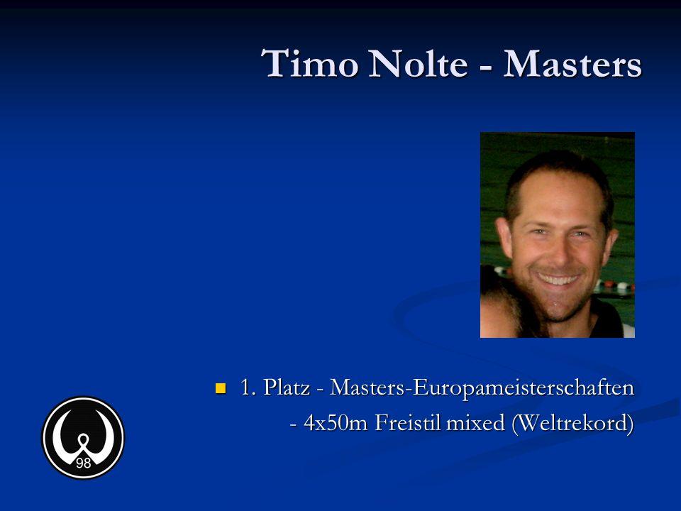 Timo Nolte - Masters 1. Platz - Masters-Europameisterschaften