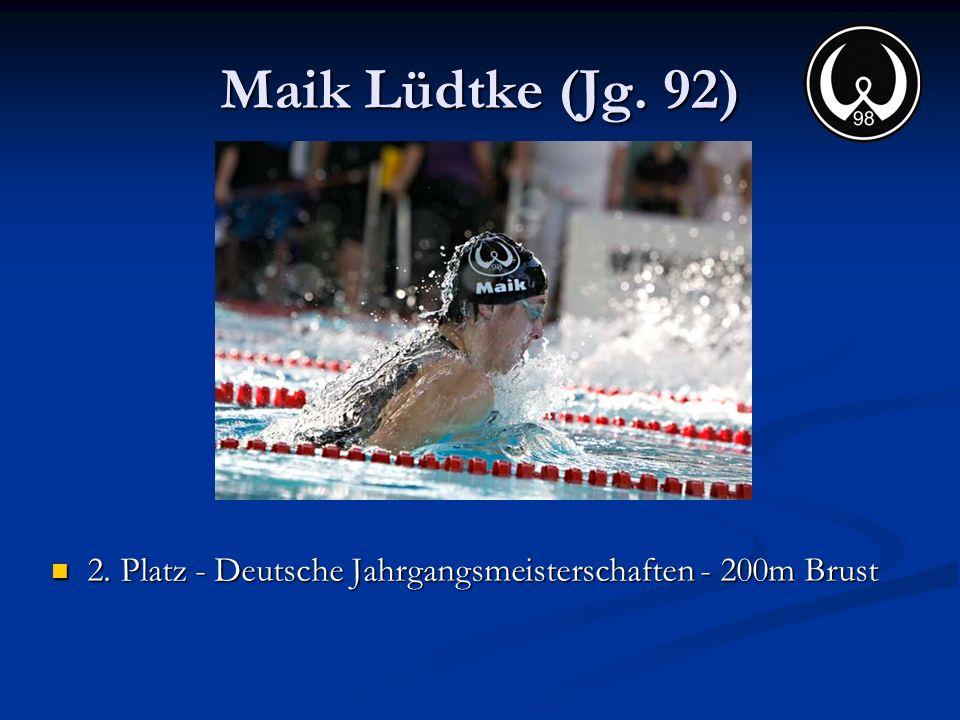Maik Lüdtke (Jg. 92) 2. Platz - Deutsche Jahrgangsmeisterschaften - 200m Brust