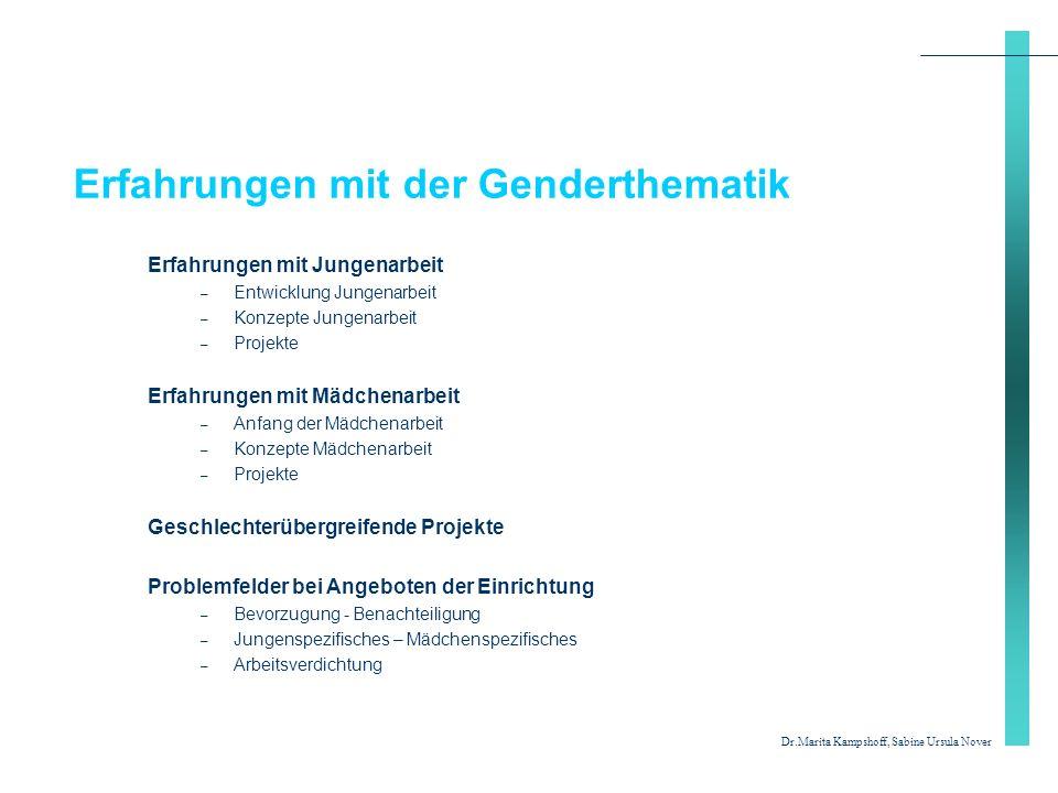 Erfahrungen mit der Genderthematik