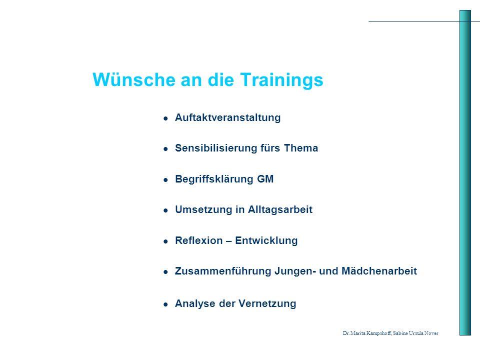 Wünsche an die Trainings