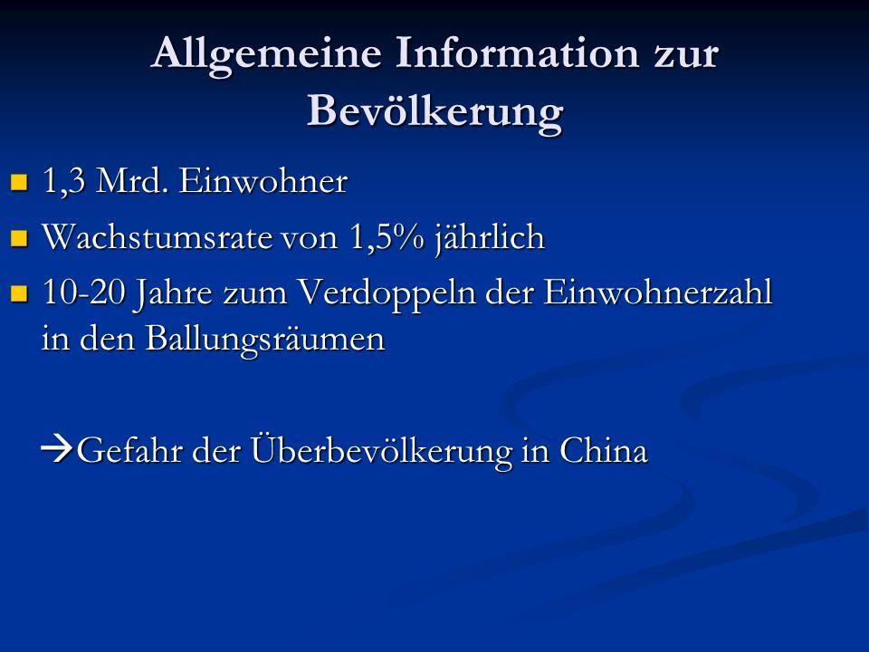 Allgemeine Information zur Bevölkerung