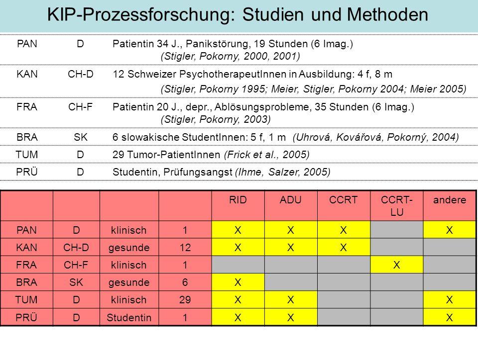 KIP-Prozessforschung: Studien und Methoden
