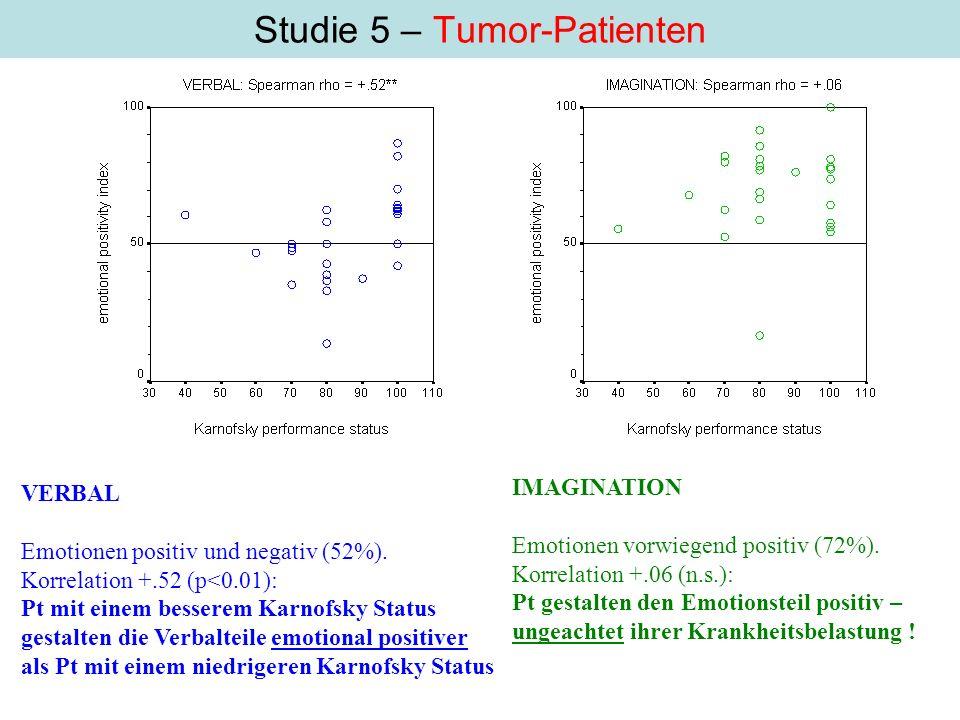 Studie 5 – Tumor-Patienten