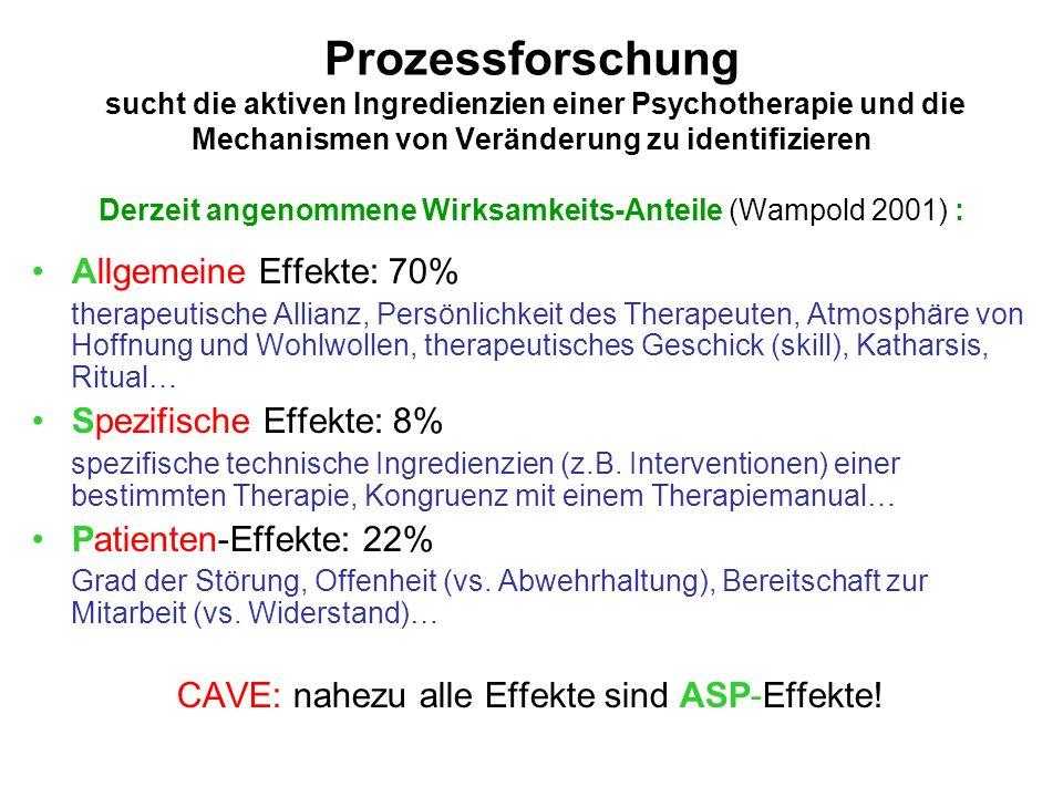 CAVE: nahezu alle Effekte sind ASP-Effekte!