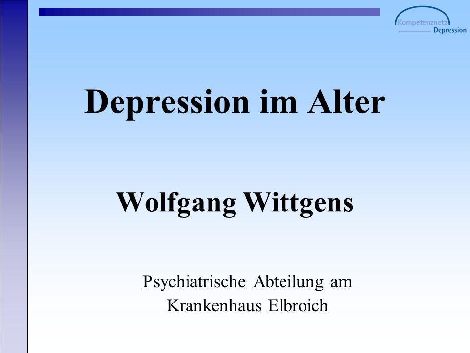 Depression im Alter Wolfgang Wittgens